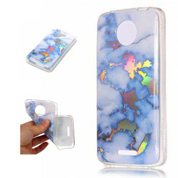 New Soft TPU case Brocatel Marble for Moto C - BLUE BLUE