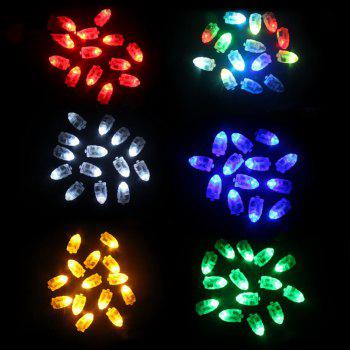 10pcs LED Glowing Light Bulbs Set Balloon Decorative Mini Lamp Bulbs - RED