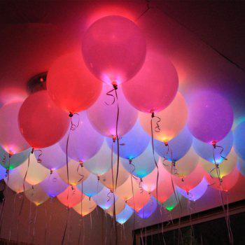 10pcs LED Glowing Light Bulbs Set Balloon Decorative Mini Lamp Bulbs - COLORFUL