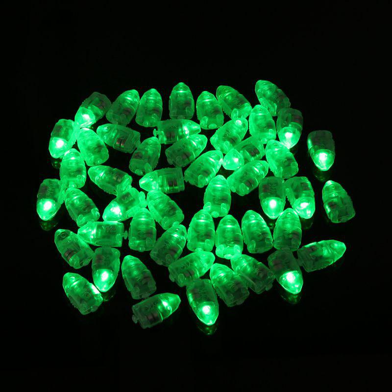 10pcs LED Glowing Light Bulbs Set Balloon Decorative Mini Lamp Bulbs - GREEN
