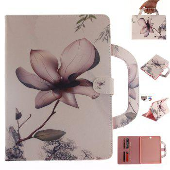 magnolia Leather Wallet Cover Design with Stand and Portable Card Slots Magnetic Closure Case for Samsung T815 - WHITE WHITE