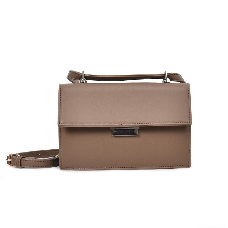 Simple All Match Solid Color Handbag for Women - KHAKI