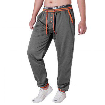 Men'S Trousers  Large Size Casual Pants - DARK GRAY DARK GRAY