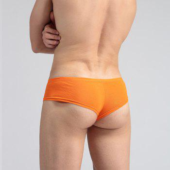 Low Waist Sexy Open Buttock Men's Underwear - ORANGE XL