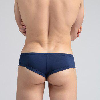 Low Waist Sexy Open Buttock Men's Underwear - ROYAL M