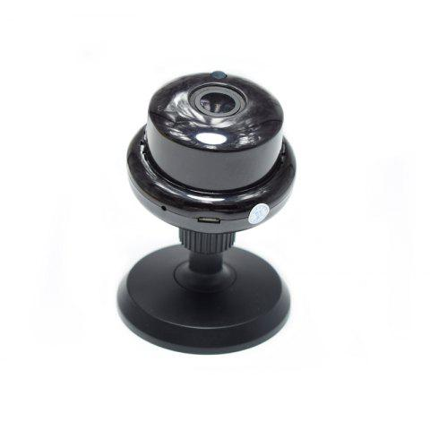 960 1.3MP MINI IP Camera Support WIFI Two-Way Voice Built-In TF Card Slot Night Vision Home Security 90 Degree - BLACK AU