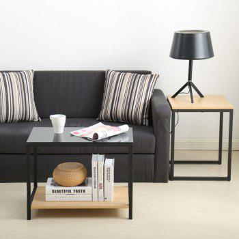 Nesting Table Set Sofa Side Table with End Table And Materials included Carbon Steel and Particleboard - YELLOW/BLACK