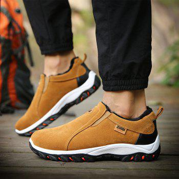 Men Warm Suede Outdoor Casual Climbing Hiking Winter Sneakers Cotton Solid Walking Boots Sport - Khaki 46 clearance ebay buy cheap fake manchester great sale online outlet pictures xz6tbo