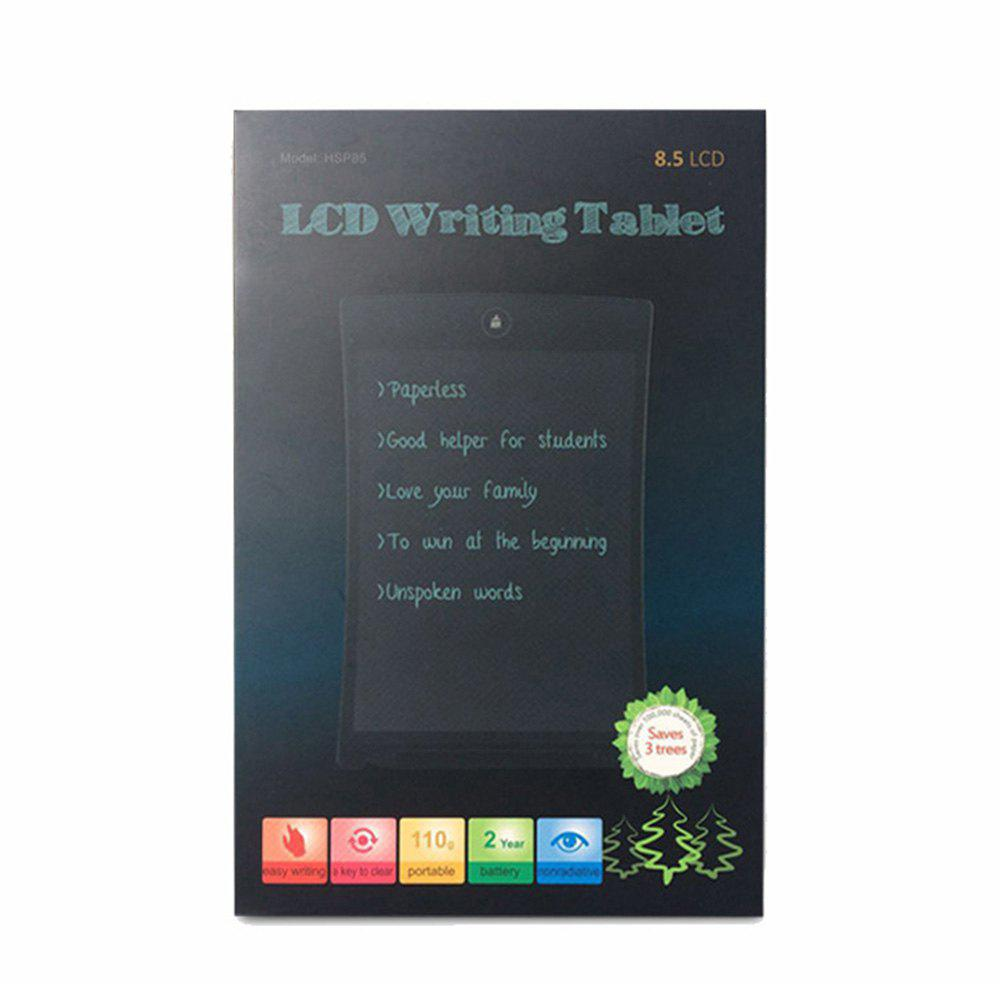 XY - HT1 Liquid Crystal 8.5 Inch Writing Board LCD Computer Handwriting Children Early Teaching Graffiti Painting - BLACK