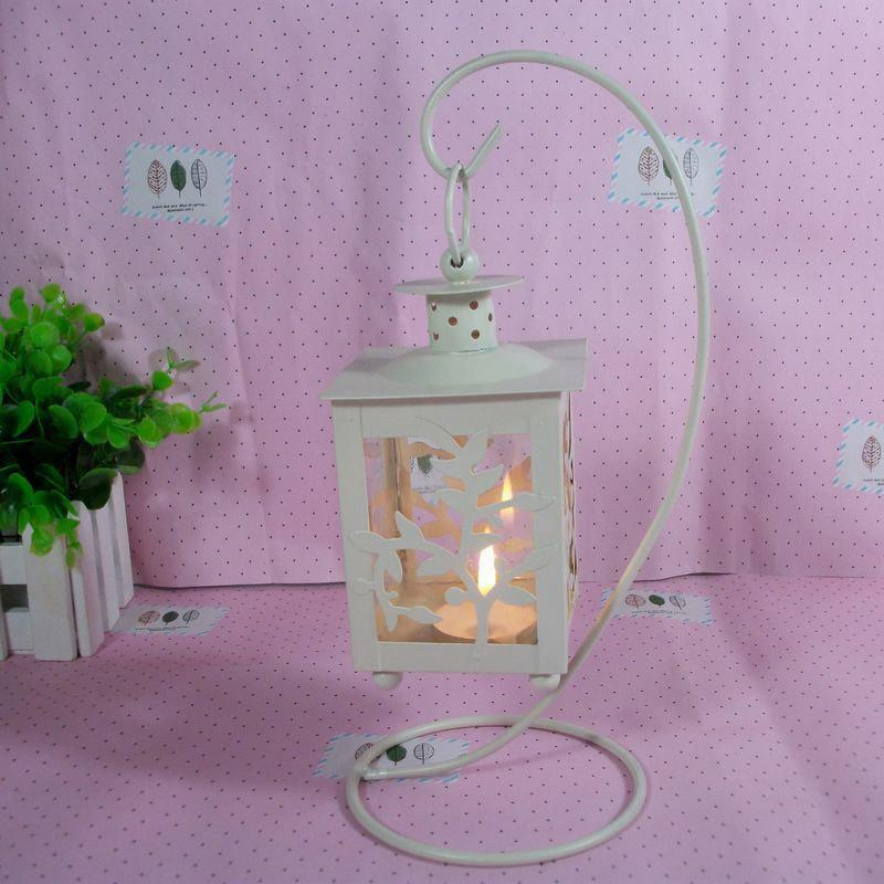 European Style Lantern crafts creative Home Furnishing ornaments - WHITE 13CM X 22.5CM
