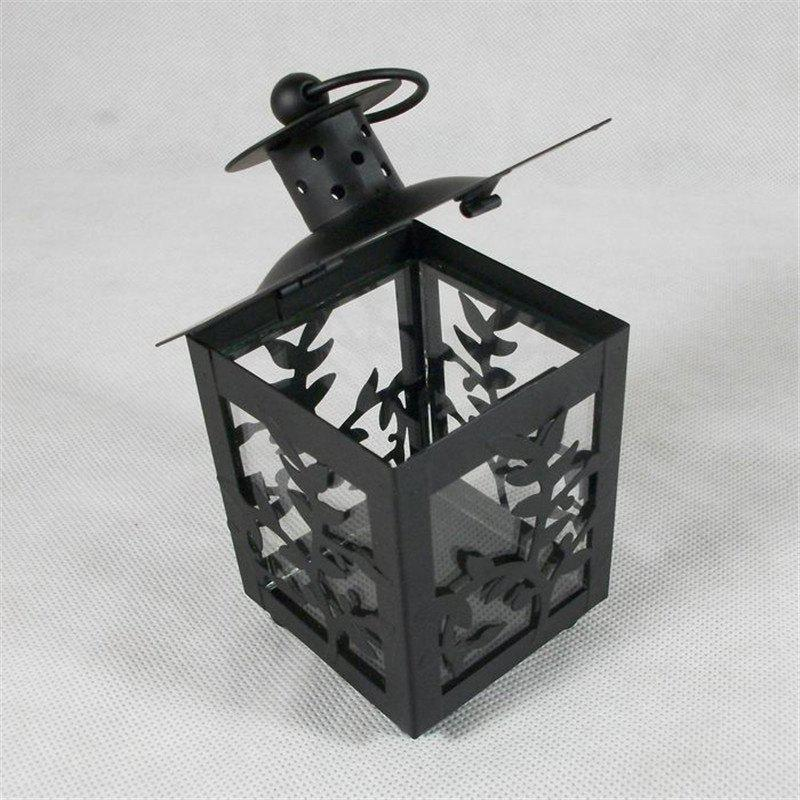 European Style Lantern crafts creative Home Furnishing ornaments - BLACK 13CM X 22.5CM