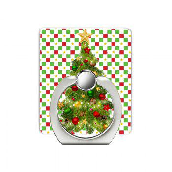 Christmas Tree Pattern Cell Phone Ring Stand Holder for Phone - GREEN GREEN