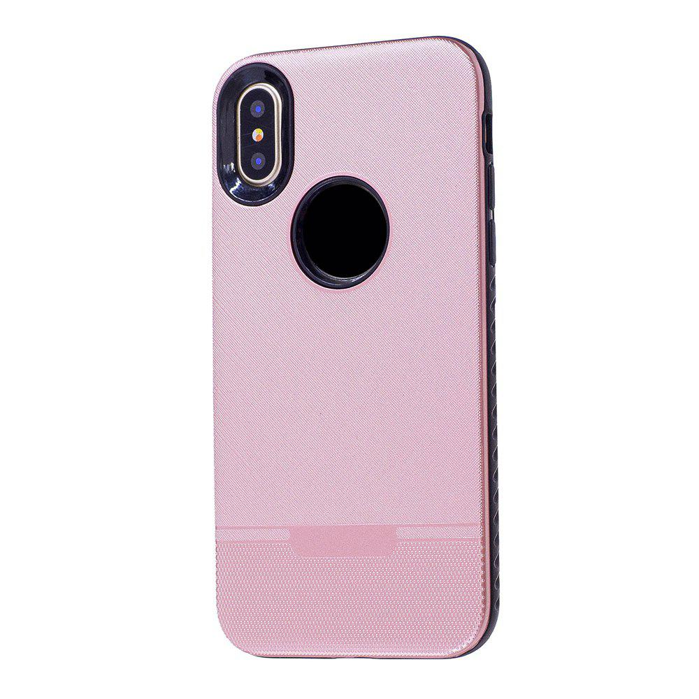 Cloth Painting 2 In 1 Soft Protector Phone Case for iPhone X - PINK
