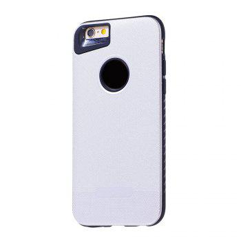 Cloth Painting 2 In 1 Soft Protector Phone Case for iPhone 6 Plus - WHITE WHITE