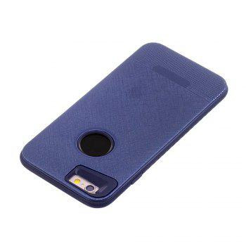 Cloth Painting 2 In 1 Soft Protector Phone Case for iPhone 6 Plus -  DEEP BLUE