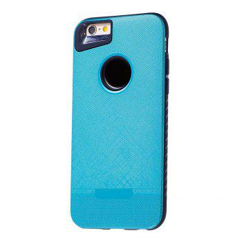 Cloth Painting 2 In 1 Soft Protector Phone Case for iPhone 6 Plus - LIGHT BLUE LIGHT BLUE