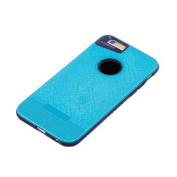 Cloth Painting 2 In 1 Soft Protector Phone Case for iPhone 6 Plus -  LIGHT BLUE
