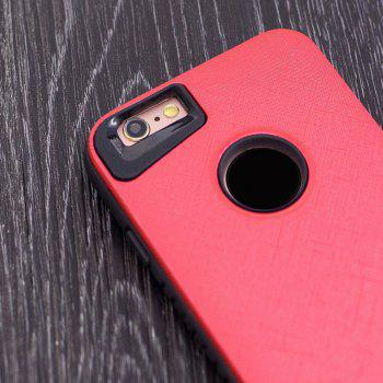Cloth Painting 2 In 1 Soft Protector Phone Case for iPhone 6 Plus - RED