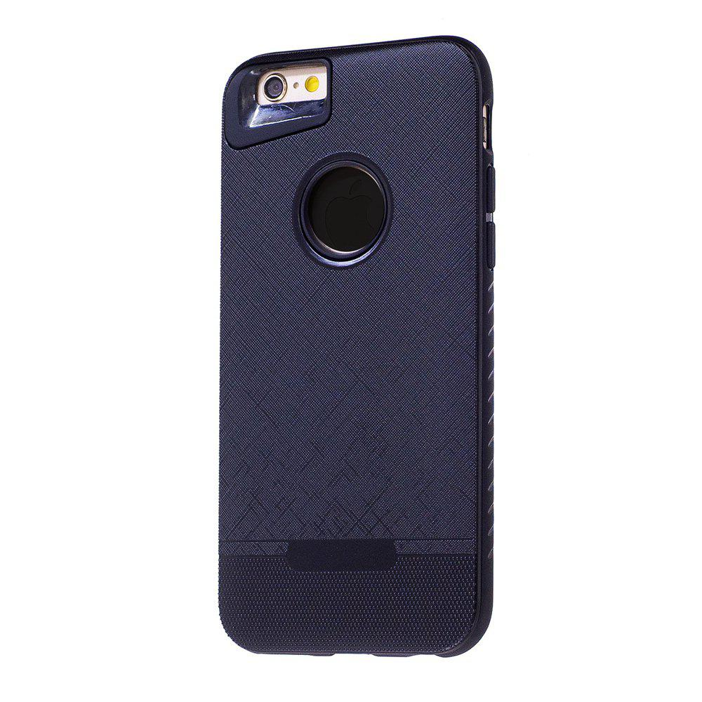 Cloth Painting 2 In 1 Soft Protector Phone Case for iPhone 6 Plus - BLACK
