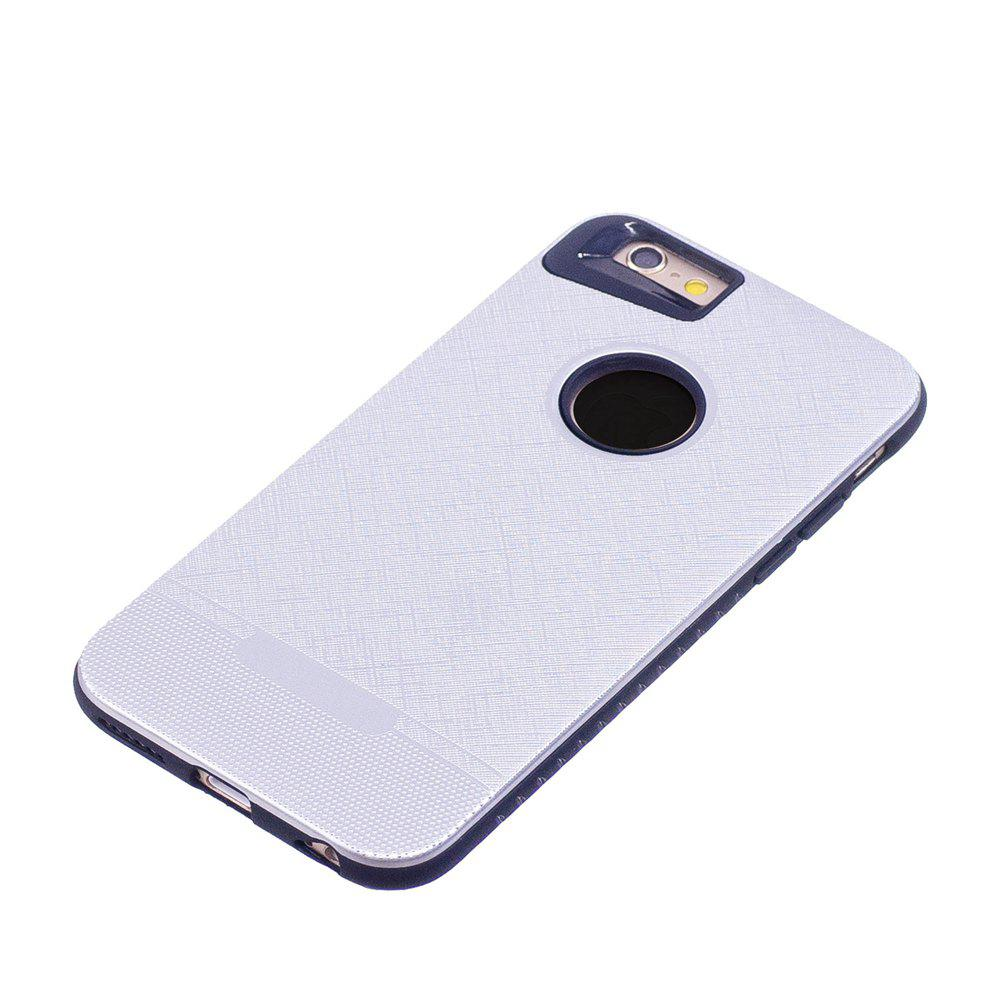 Cloth Painting 2 In 1 Soft Protector Phone Case for iPhone 6 Plus - WHITE