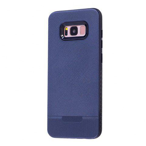 Cloth Painting 2 In 1 Soft Protector Phone Case for Samsung Galaxy S8 - DEEP BLUE