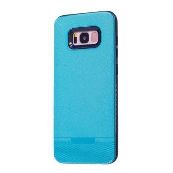 Cloth Painting 2 In 1 Soft Protector Phone Case for Samsung Galaxy S8 - LIGHT BLUE LIGHT BLUE
