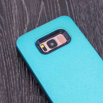 Cloth Painting 2 In 1 Soft Protector Phone Case for Samsung Galaxy S8 - LIGHT BLUE