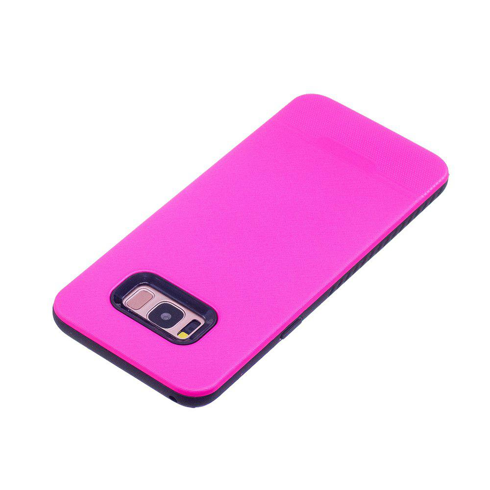 Cloth Painting 2 In 1 Soft Protector Phone Case for Samsung Galaxy S8 - ROSE RED