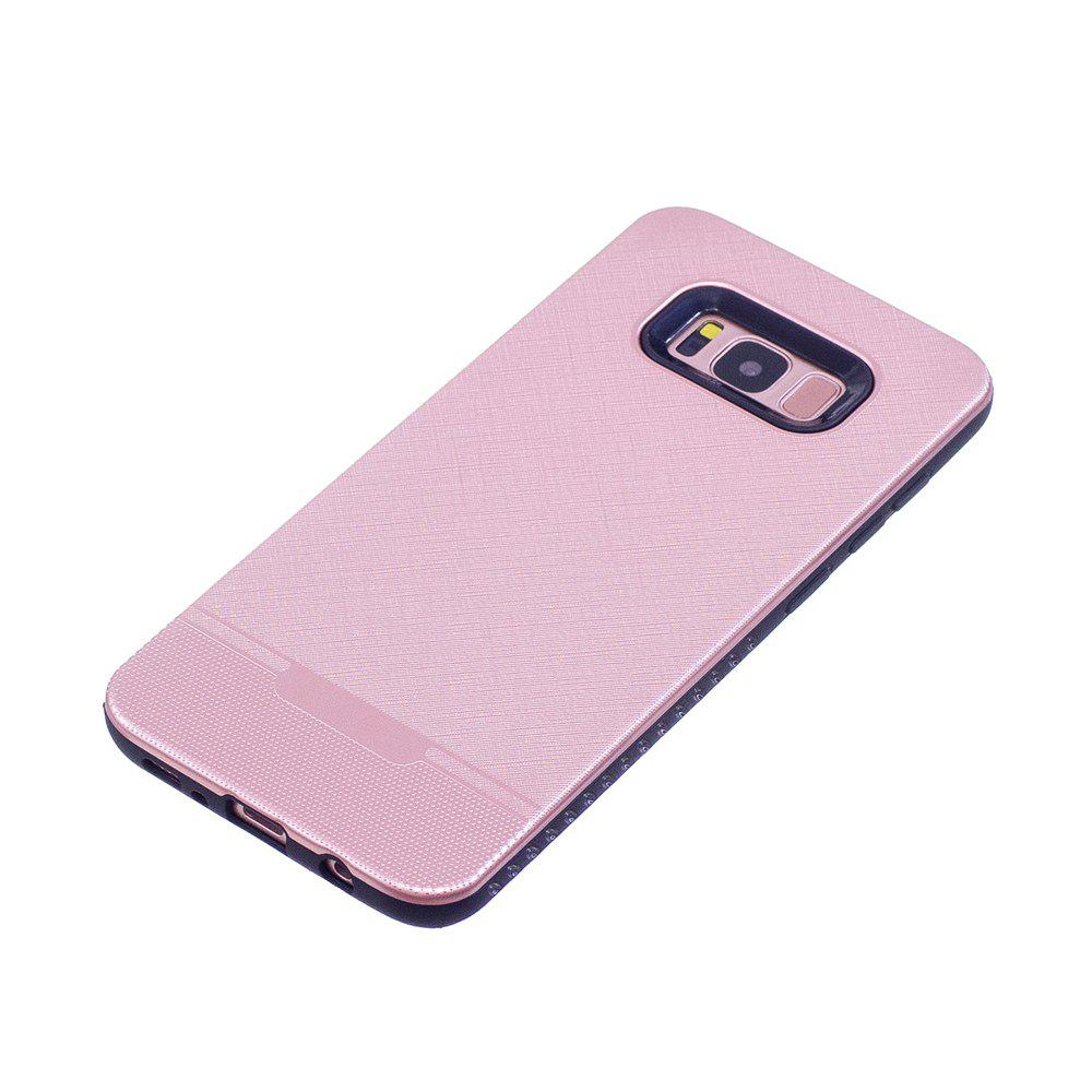 Cloth Painting 2 In 1 Soft Protector Phone Case for Samsung Galaxy S8 - PINK