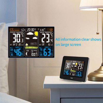 FJ3365B Digital Color Forecast Weather Station with Alert and Temperature/Humidity/Barometer/Alarm/Moon phase - BLACK