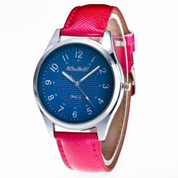 ZhouLianFa New Fashion Crocodile Leather Strap Ladies Business Casual Quartz Watch - ROSE RED ROSE RED