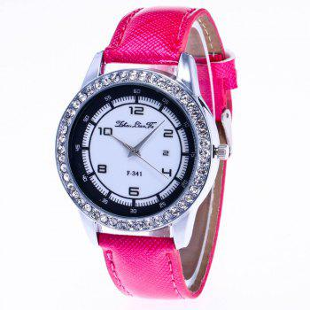 ZhouLianFa New Trend of Diamond Crystal Grain Business Casual Black and White Quartz Watch with Gift Box - ROSE RED ROSE RED