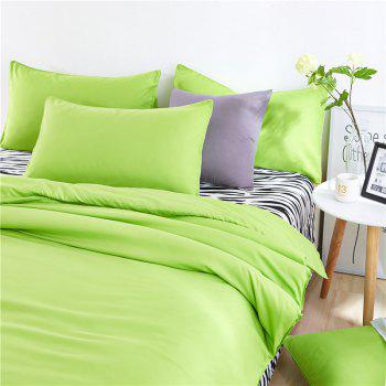 Aloe Vera Cotton Zebra Sheet and Pure Color Quilt for Children'S Three-Piece Bedding Sets - FRUIT GREEN