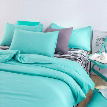 Aloe Vera Cotton Zebra Sheet and Pure Color Quilt for Children'S Three-Piece Bedding Sets - LAKE BLUE LAKE BLUE
