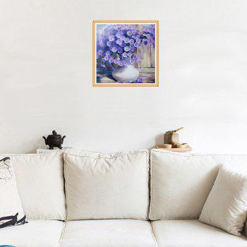 Naiyue 7091 Purple Daisy Print Draw Diamond Drawing - PURPLE / WHITE