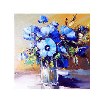 Naiyue 7092 Blue Flower Print Draw Diamond Drawing - BLUE + GREY BLUE / GREY