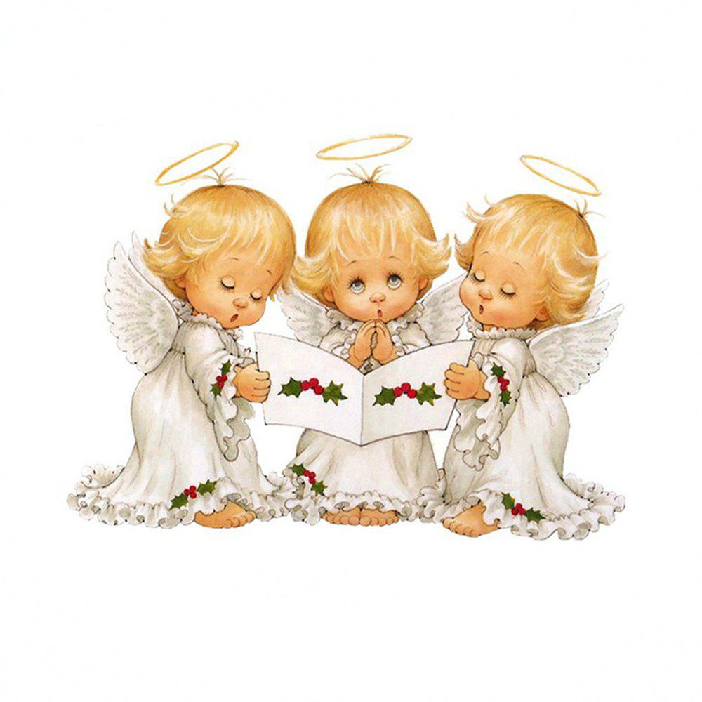 Naiyue 7097 Three Small Angel Print Draw Diamond Drawing - COLORMIX