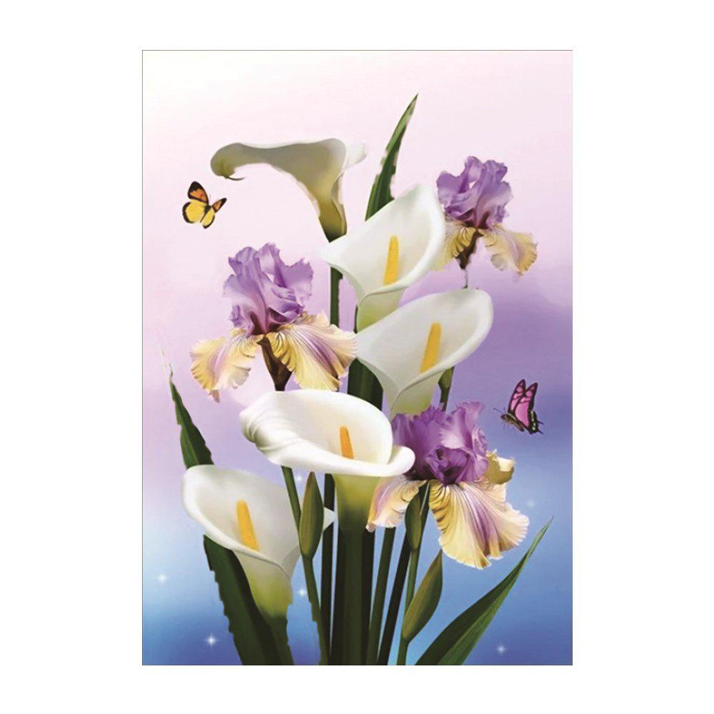 Naiyue 7123 Callas Print Draw Diamond Drawing - COLORMIX