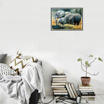 Naiyue J542 Elephants Print Draw Diamond Drawing - YELLOW / GREY