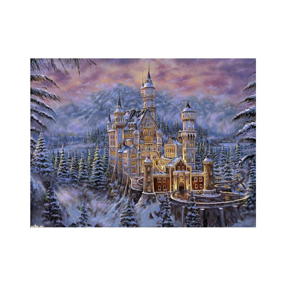 Naiyue 7134 Snow Area Castle Print Draw Diamond Drawing - COLORMIX