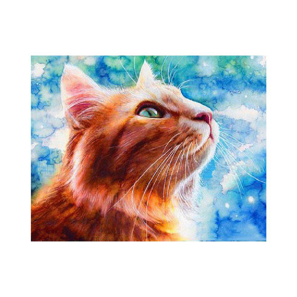 Naiyue 9011 Cat Print Draw Diamond Drawing - BLUE / RED