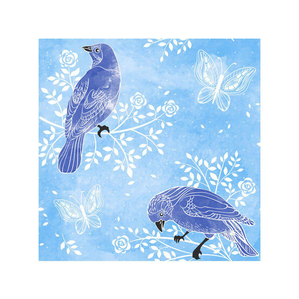 Naiyue 9014 Two Birds Print Draw Diamond Drawing - BLUE / PURPLE