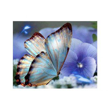 Naiyue 9783 Butterfly Print Draw Diamond Drawing - BLUE VIOLET BLUE VIOLET