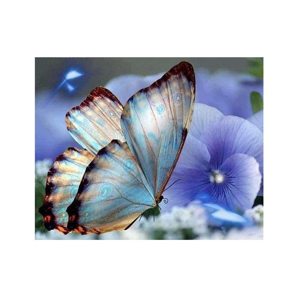 Naiyue 9783 Butterfly Print Draw Diamond Drawing - BLUE VIOLET