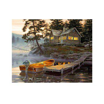 Naiyue 7137 Lake House Print Draw Diamond Drawing - COLORMIX COLORMIX