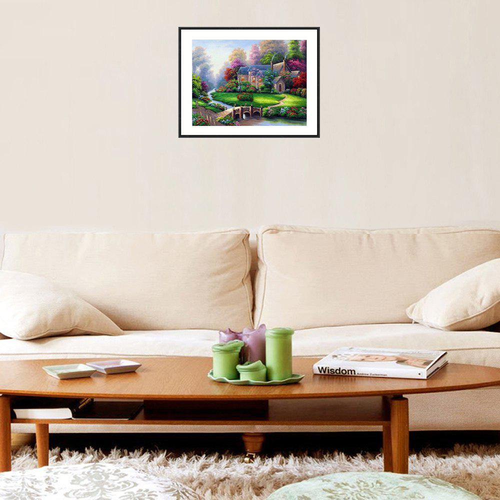 Naiyue 7139 Forest Cabin Print Draw Diamond Drawing - COLORMIX