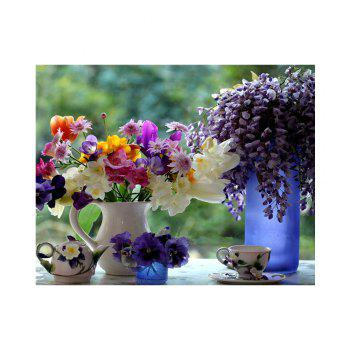 Naiyue 7141 Flower Vase Print Draw Diamond Drawing - COLORMIX COLORMIX