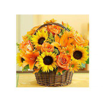 Naiyue 7144 Sunflower Flowers Print Draw Diamond Drawing - COLORMIX COLORMIX
