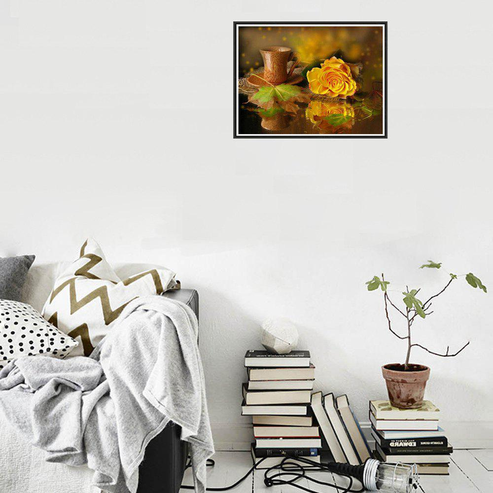 Naiyue 7146 Yellow Roses Print Draw Diamond Drawing - COLORMIX