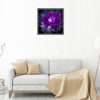 Naiyue 7147 Purple Roses Prints Diamond Paintings - PURPLE